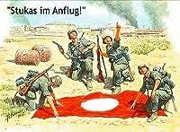 マスターボックス 1/35 ドイツ歩兵 航空機識別連絡用旗