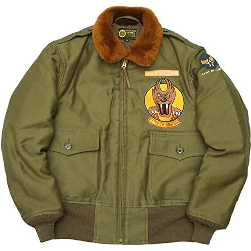 TOYS McCOY #TMJ1528 B-10 フライトジャケット ROUGH WEAR CLOTHING 『SCREAMIN' DEMONS』40161オリーブ