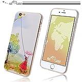 WeLoveCase iPhone6 6s対応 ソフトケース TPU素材 凧揚げ 少女 森ガール 装着安い 防塵機能付き 超軽量 耐衝撃 頑丈 クリア シンプル おしゃれ アイフォン6 シリコン