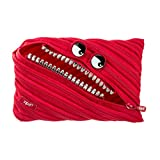 ZIPIT Grillz Big Pencil Case/Cosmetic/Makeup Bag, Red