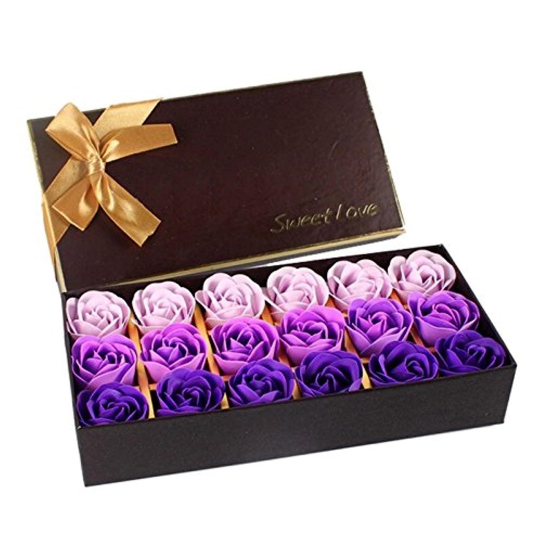 褐色ラベンダーコーナーローズ フラワーソープ 石鹸 薔薇 プレゼント お祝い ② #334
