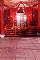 Chinese Traditionalレッド部屋写真Backdrops写真小道具Studio背景5x 7ft