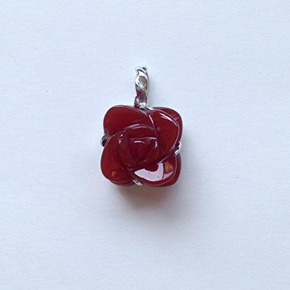 レキシコン気難しい折香る宝石SV赤メノウペンダント通常¥26,800の所 (Ag925)