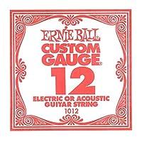 【正規品】 ERNIE BALL 1012 ギター弦 バラ弦 (.012) PLAIN STEEL STRING SINGLE プレーン・スティール・ストリング