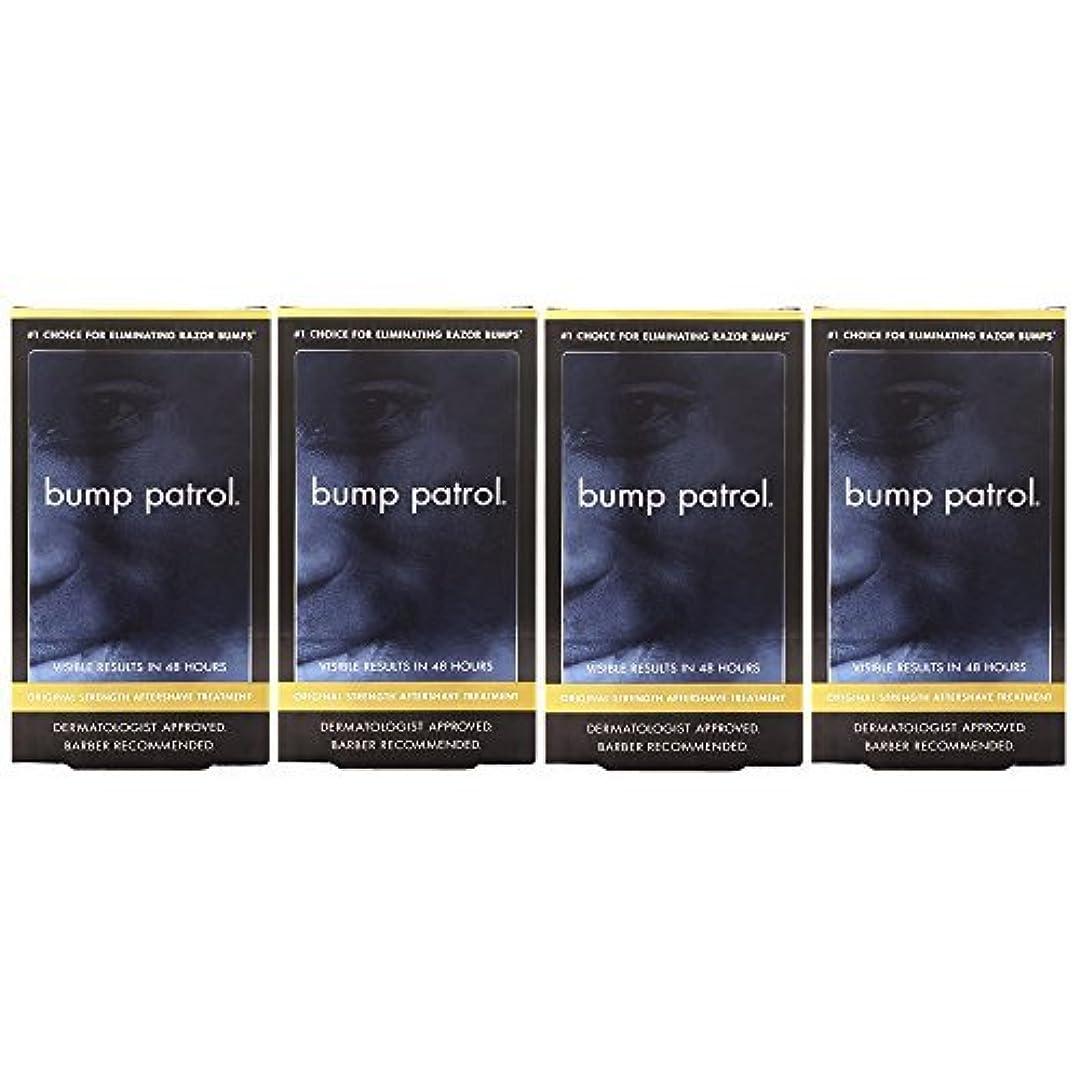 施し誇りに思う収まるBump Patrol Dermatologist Approved Original Strength Aftershave Treatment (2 oz) 4 Pack [並行輸入品]