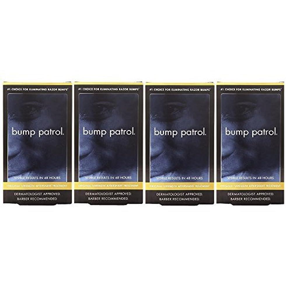 トリッキー氷昼食Bump Patrol Dermatologist Approved Original Strength Aftershave Treatment (2 oz) 4 Pack [並行輸入品]