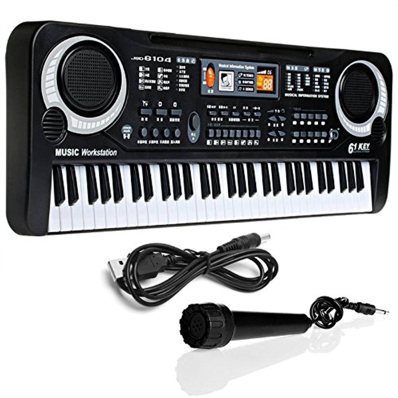 Kofan ミュージカルおもちゃエレクトリックピアノ新しい61キーデジタル音楽電子キーボードキーボードギフト