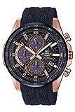 [カシオ] 腕時計 エディフィス EQS-900PB-1AV メンズ 腕時計 ソーラークロノグラフ 2019年モデル ピンクゴールドxブラック ウレタンバンド レーシング カーボン バッテリーインジケーター機能 令和 [並行輸入品]