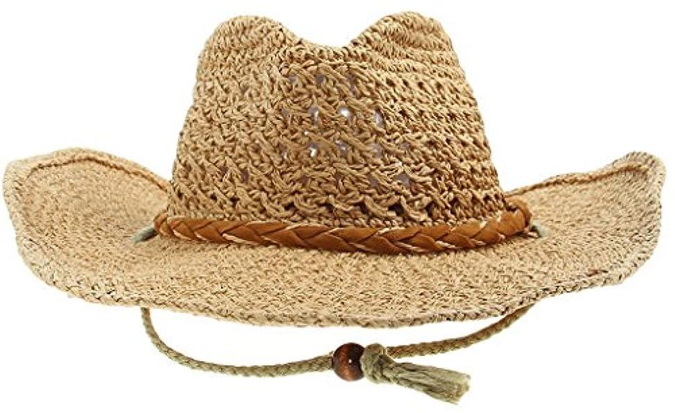 宿題をする言い訳ブラザーEOZY 親子タイプ 帽子 つば広 麦わら帽子 テンガロンハット ストローハット オシャレにUV対策 カウボーイハット レディース メンズ キッズ 春 夏 ハット 折りたたみ可 大人サイズ カーキ