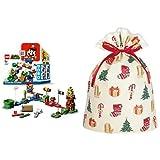 レゴ(LEGO) スーパーマリオ レゴ(R)マリオ と ぼうけんのはじまり 〜 スターターセット 71360 + インディゴ クリスマス ラッピング袋 グリーティングバッグLL ハッピークリスマス XG497