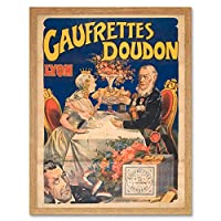Tamgno Doudon Wafer Biscuit Royal Couple Advert Art Print Framed Poster Wall Decor 12x16 inch ロイヤル広告ポスター壁デコ