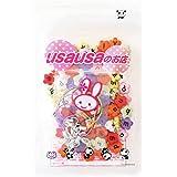 usausaのお店 カラフル(マットなカラー)花形アルファベットビーズ 11mm 100個(小文字)、カニカン付き携帯ストラップ用紐5本セット(B190)