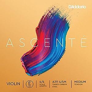 D'Addario ダダリオ バイオリン用 バラ弦 Ascente E線 A311 4/4M Medium Tension 【国内正規品】