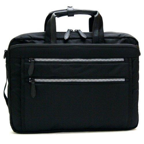 Urban Road[アーバンロード]多機能ビジネスバッグ 軽量撥水 PC用ポケット付き B4ファイル対応 メンズ ブラック