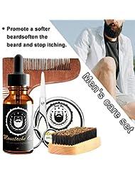 ひげクリーム ひげケア必需品 携帯便利 清潔 軽量 ひげ専用 ひげワックス メンズ バーム ビアードオイル 櫛 ビアードセット 保湿