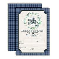 AmandaCreation 小さな臭いのするかわいいスカンクテーマのベビーシャワー招待状 5 x 7インチ カード入り 20枚の白い封筒付き