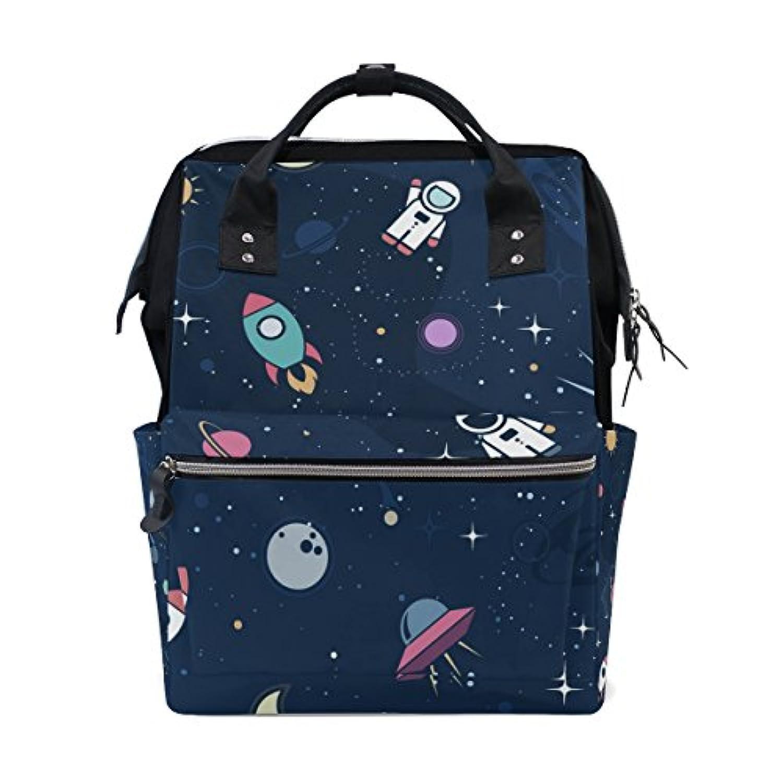 ママバッグ マザーズバッグ リュックサック ハンドバッグ 旅行用 宇宙 プリント ファション
