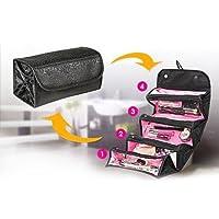 Kicode 化粧品収納ボックス化粧品バッグ化粧品アウトドア旅行ファッションバスルームメイクオーガナイザーメイクアップメイクブラシ収納口紅ホルダーバッグ