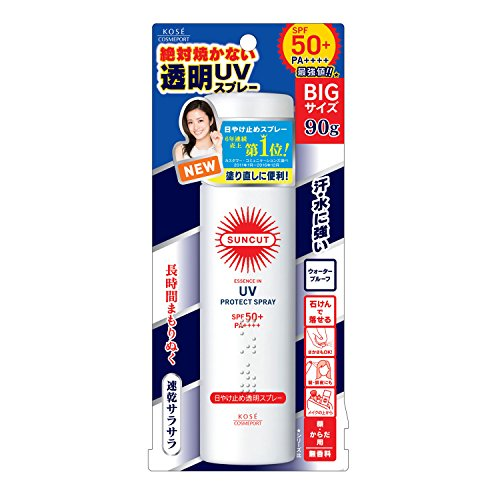 KOSE コーセー サンカット 日焼け止め 透明 スプレー 無香料 90g SPF50+ PA++++