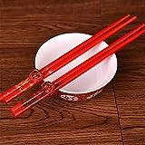 礼儀と宴会の箸花嫁の結婚式の箸カップル赤い龍の木の箸卸売ウェディング宴会食器:マルチ