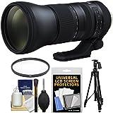 Tamron 150–600mm F / 5–6.3g2Di VC USDズームレンズwith UVフィルタ+三脚+キットwith UVフィルタ+ピストルグリップ三脚+クリーニングキットfor NikonデジタルSLRカメラ