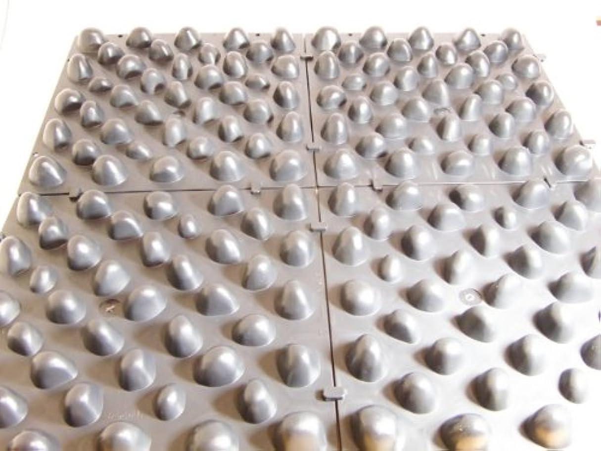 ハーフ形ビザ官足歩行板 (つなげて使える足踏み健康マット 6枚組)