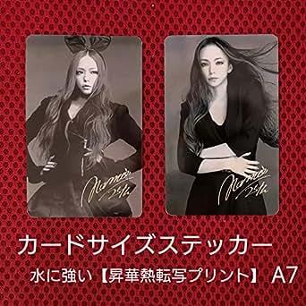 安室奈美恵 カードサイズステッカー(ハンドメイド) A7