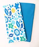 セットof 2ブックカバー:ジャンボsize-ブルー花柄セット