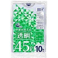 日本技研工業 ゴミ袋 透明 45L 65cm×80cm 厚さ0.03mm 伸びやすく裂けにくい 中身が見える TN-2 10枚入