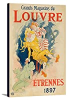 Grands magasins Du Louvre – Etrennes 1897年ヴィンテージポスター(アーティスト: Cheret )フランスC。1896 24 x 36 Gallery Canvas LANT-3P-SC-63517-24x36
