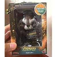 HotToys Cosbaby Rocket Bobble Head FigureベルベットヘアVerision Avengers 3infinity War Guardians Of The Galaxy Vol。2Marvel Disney