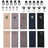 xydstay 30 Pack Button Extender and Waist Pants Extender Set for Pants, Shirts, Skirts, Jeans