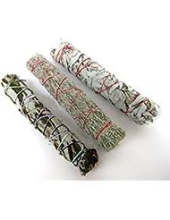 セージSmudge Sticks Bundle of 3 SticksサンプラーセットLarge 8 – 9インチ