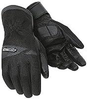 ツアーマスターdri-meshメンズレザー/Textileストリートバイクレースオートバイグローブ–ブラック S ブラック 8416-0105-04