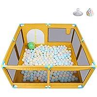 ベビーサークル, ポータブル8パネルベイビープレイヤード、200ボールとゲート、幼児用プレイスペン、玩具収納袋付き、屋内/屋外用 - 身長66cm