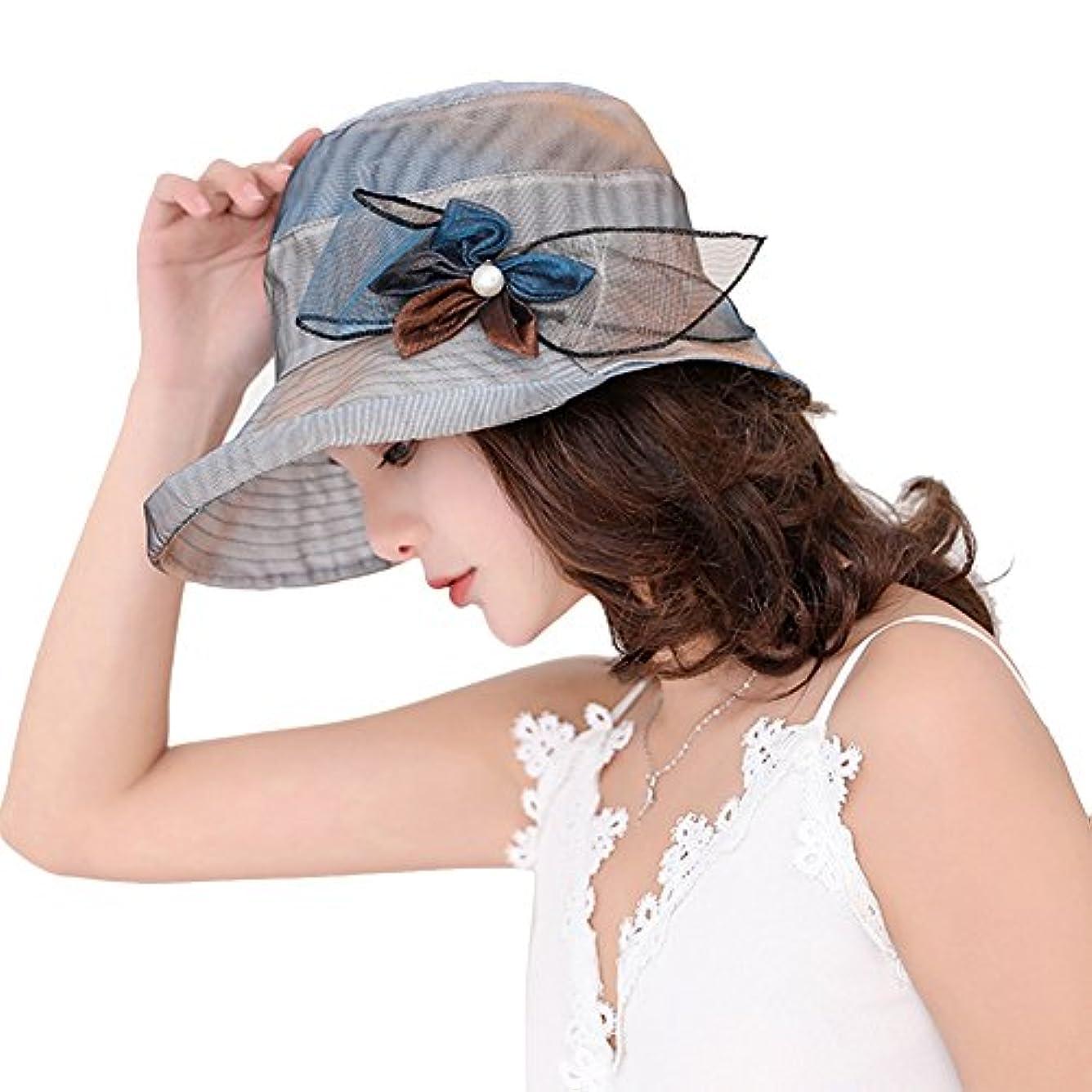 プラグおかしい硬化するレディースSunhats UPF 50 +バケット太陽帽子UV保護太陽帽子Packable夏帽子Ladies fold-up Wide Brim Roll Rimベルベットビーチサンハット調節可能内側コードスタイリッシュ56 – 58 cm旅行バケットハット
