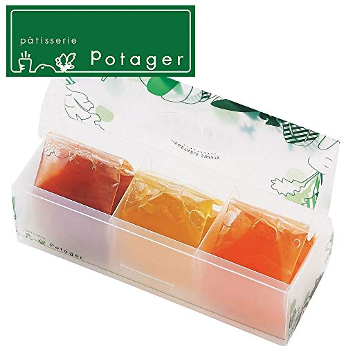 パティスリー ポタジエ 国産野菜とフルーツのジュレ詰合せ 3個 洋菓子 ゼリー