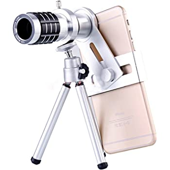Ceyo スマホレンズ 望遠 12倍 スマホカメラ ズーム 22mm 単眼鏡 三脚付き 携帯レンズ HDレンズ フリーサイズ 取り付け簡単 各種スマホ対応 for iPhone Android 運動会 ライブ スポーツ観戦 動物観察等に最適