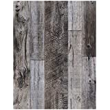 """HaokHome 92048-1 Peel And Stick Wood Wallpaper 17.7""""x 9.8ft Brown Vinyl Self Adhesive Contact Paper for Walls Bathroom Bedroom Home Decor"""