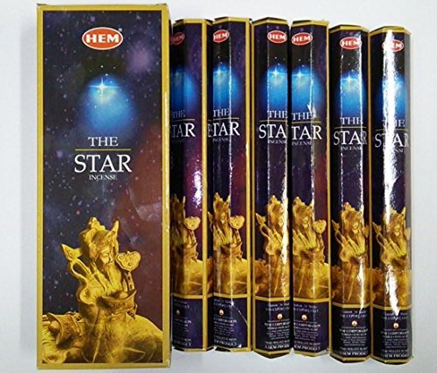 桃ランプ電報HEM スター香 スティック ヘキサパック(六角) 6箱セット HEM STAR