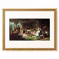 カール・シュピッツヴェーク Carl Spitzweg 「The Picnic」 額装アート作品