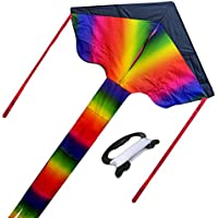 Huge Rainbow Kite for Kids Goodアウトドアおもちゃ