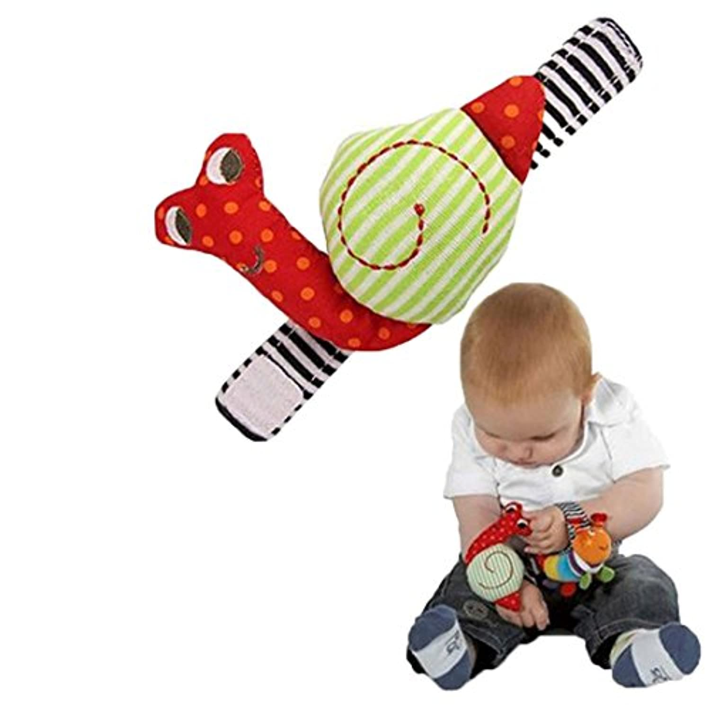Edtoy 1個幼児ベビー手首ガラガラ音がする玩具、Snail