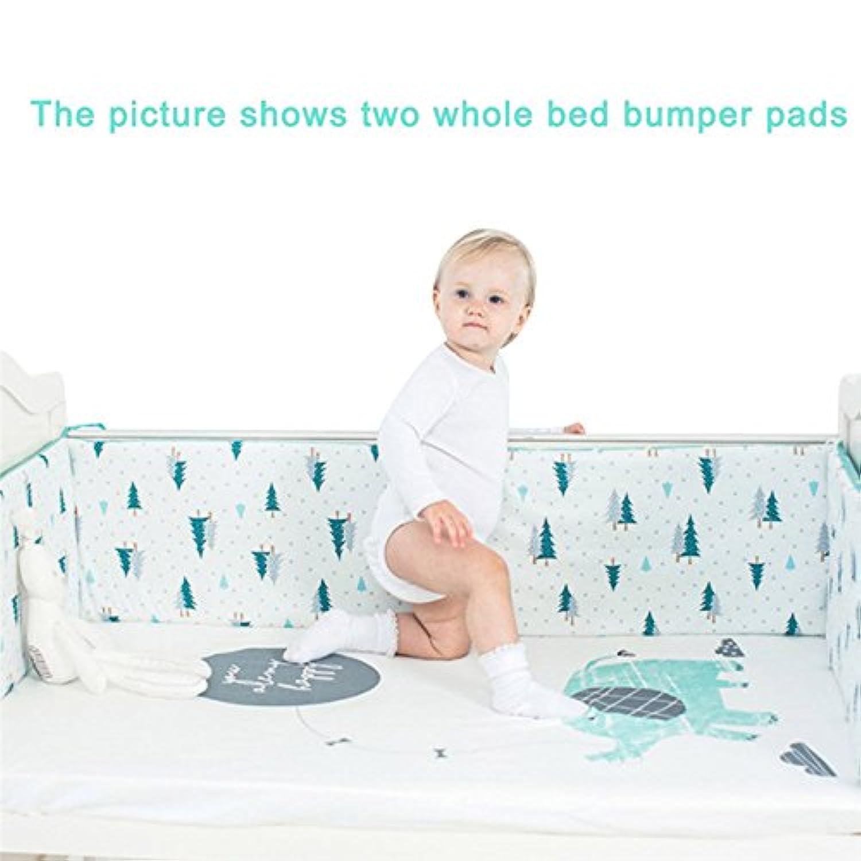 Firlar ベビーベッドガード  サイドガード クッション 赤ちゃんベッドバンパー かわいい 組み合わせ 多機能 保護 取り付け便利 癒しアイテム 部屋飾り 撮影小物 出産祝い