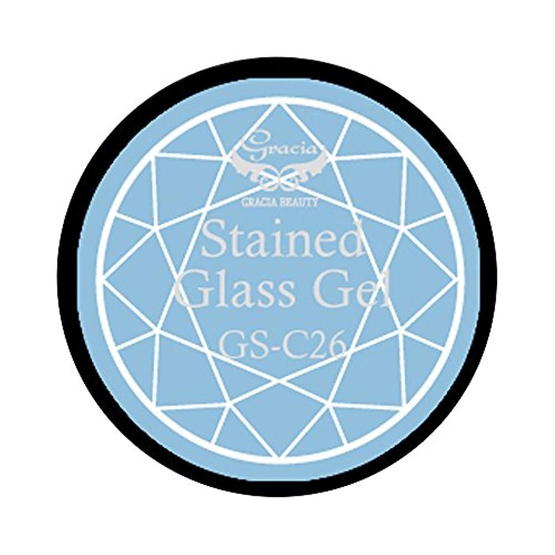 記憶顎なぜならグラシア ジェルネイル ステンドグラスジェル GSM-C26 3g  クリア UV/LED対応 カラージェル ソークオフジェル ガラスのような透明感