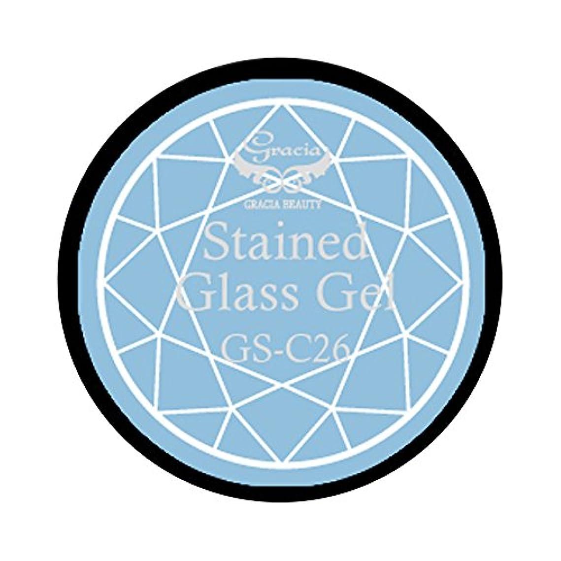 シンプルな資産シールグラシア ジェルネイル ステンドグラスジェル GSM-C26 3g  クリア UV/LED対応 カラージェル ソークオフジェル ガラスのような透明感