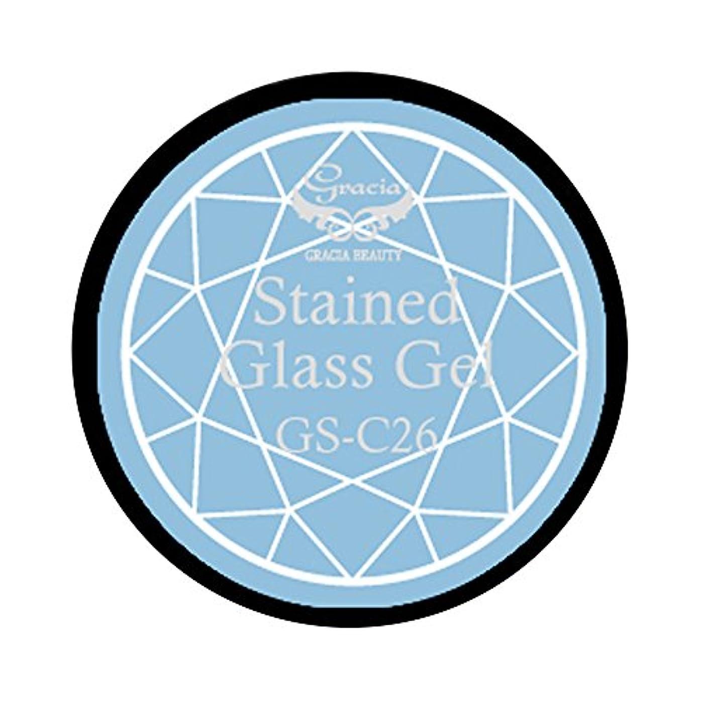避けられない急降下モックグラシア ジェルネイル ステンドグラスジェル GSM-C26 3g  クリア UV/LED対応 カラージェル ソークオフジェル ガラスのような透明感