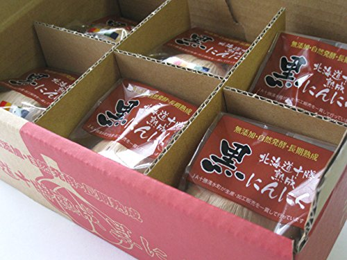 北海道十勝熟成黒にんにく 個包装 黒ニンニク Mサイズ 6個入 (無添加 自然発酵 長期熟成)