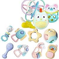 Teetherラトルセットベビーおもちゃベビーおもちゃ、ラトルと歯のリングを含む最新のベビーおもちゃ新生児のためのハンドベルおもちゃ ( Color : C )