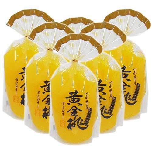 サンヨー堂 山形県産 黄金桃 果実ゼリー ピューレ入 400g x6個セット